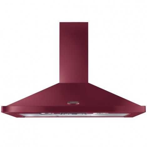 Rangemaster 110cm Chimney Cooker Hood Cranberry with Chrome Trim LEIHDC110CY/C 95610
