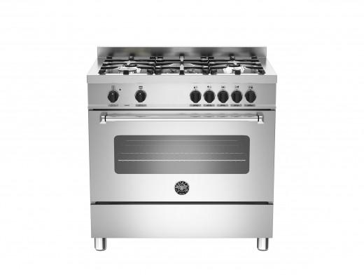 Bertazzoni Master 90 Single Oven Dual Fuel Stainless Steel Range Cooker MAS90-5-MFE-S-XE