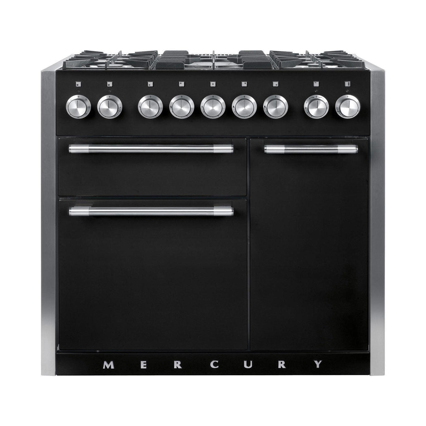 Mercury MCY1000DF Dual Fuel Ash Black Range Cooker