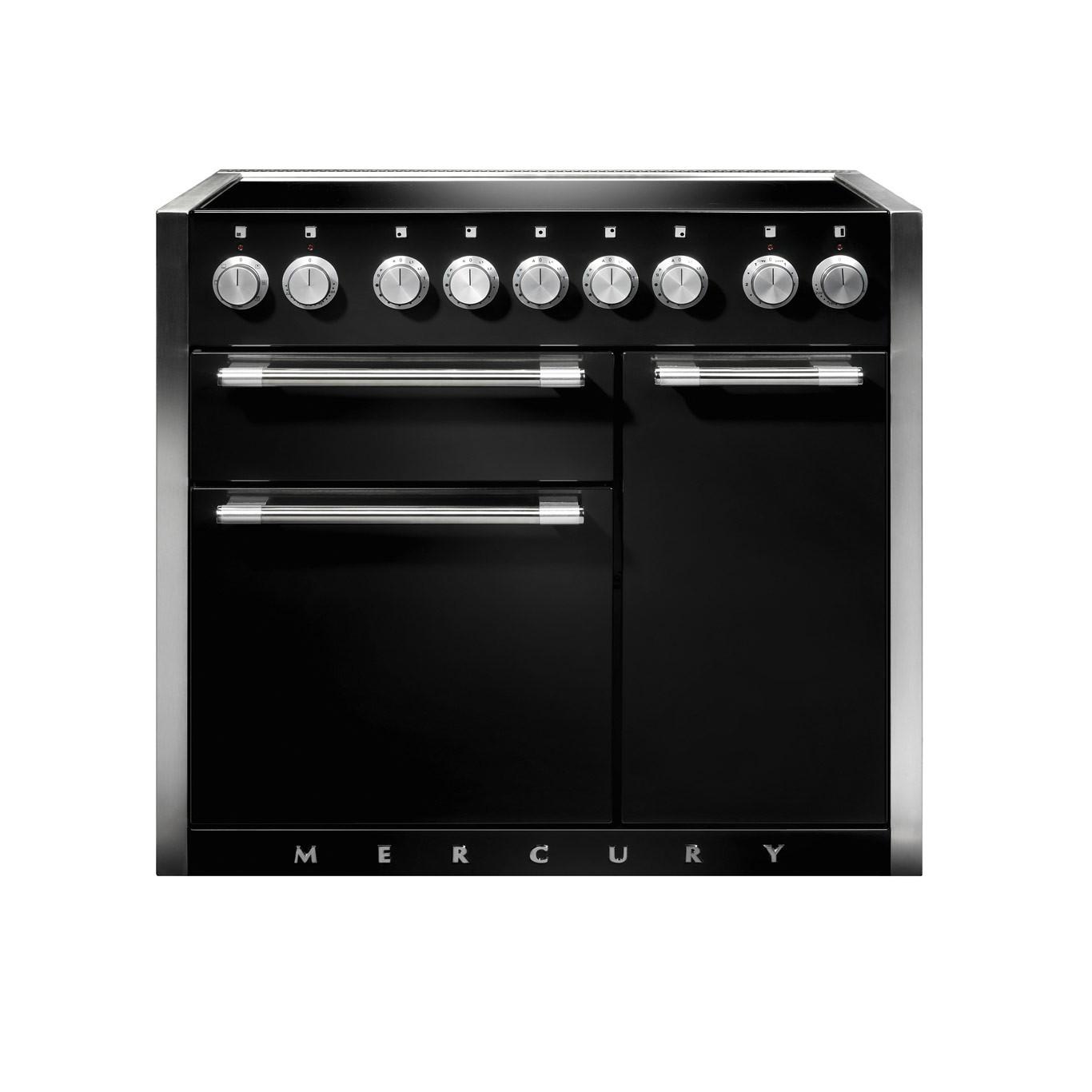 Mercury MCY1000EI Induction Ash Black Range Cooker