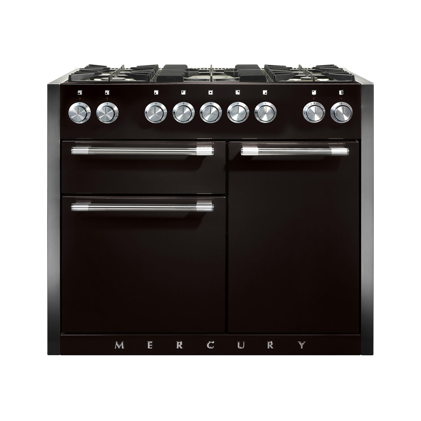 Mercury MCY1082DF Dual Fuel Ash Black Range Cooker
