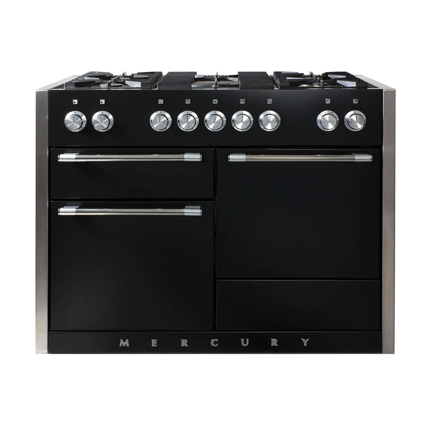 Mercury MCY1200DF Dual Fuel Ash Black Range Cooker