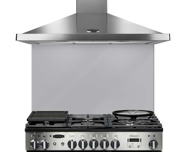 Rangemaster 100cm Glass Splashback Metallic Silver UNBSP994MS/ 107580