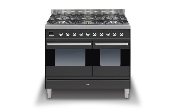 Ilve Moderna 100 Graphite Twin Dual Fuel 6 Burner Range Cooker