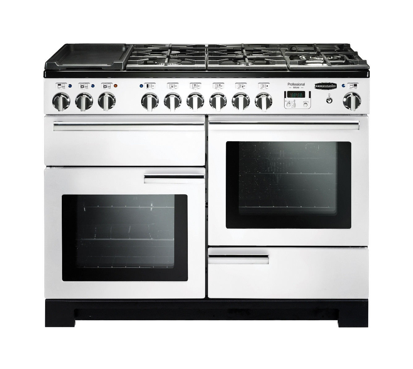 Rangemaster Professional Deluxe 110 Dual Fuel White Range Cooker PDL110DFFWH/C 98940