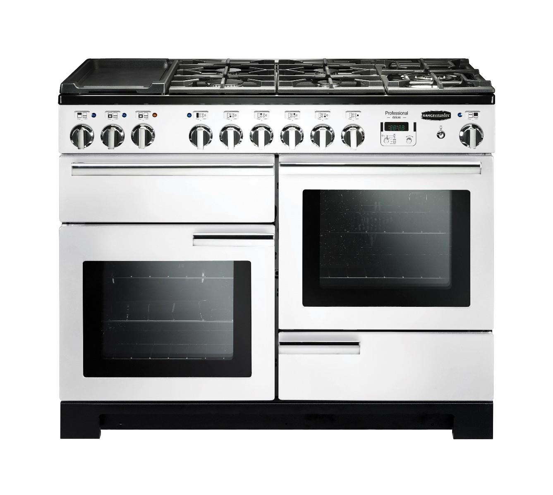 Rangemaster Professional Deluxe 110 Dual Fuel White Range Cooker 98940