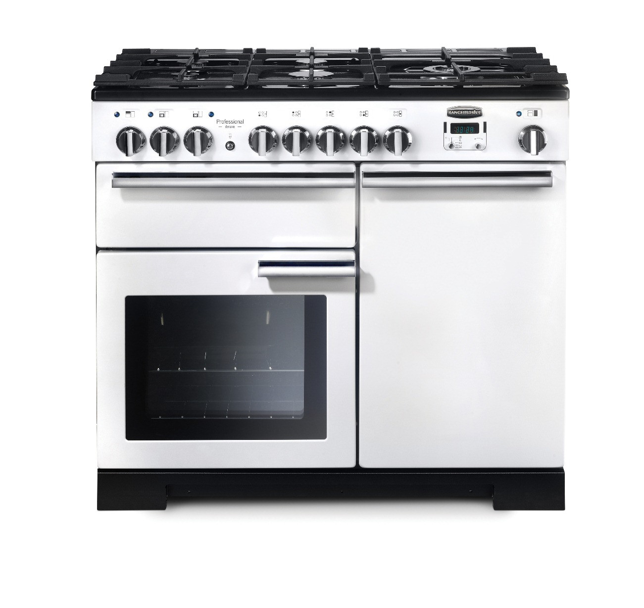 Rangemaster Professional Deluxe 100 Dual Fuel White Range Cooker 98950