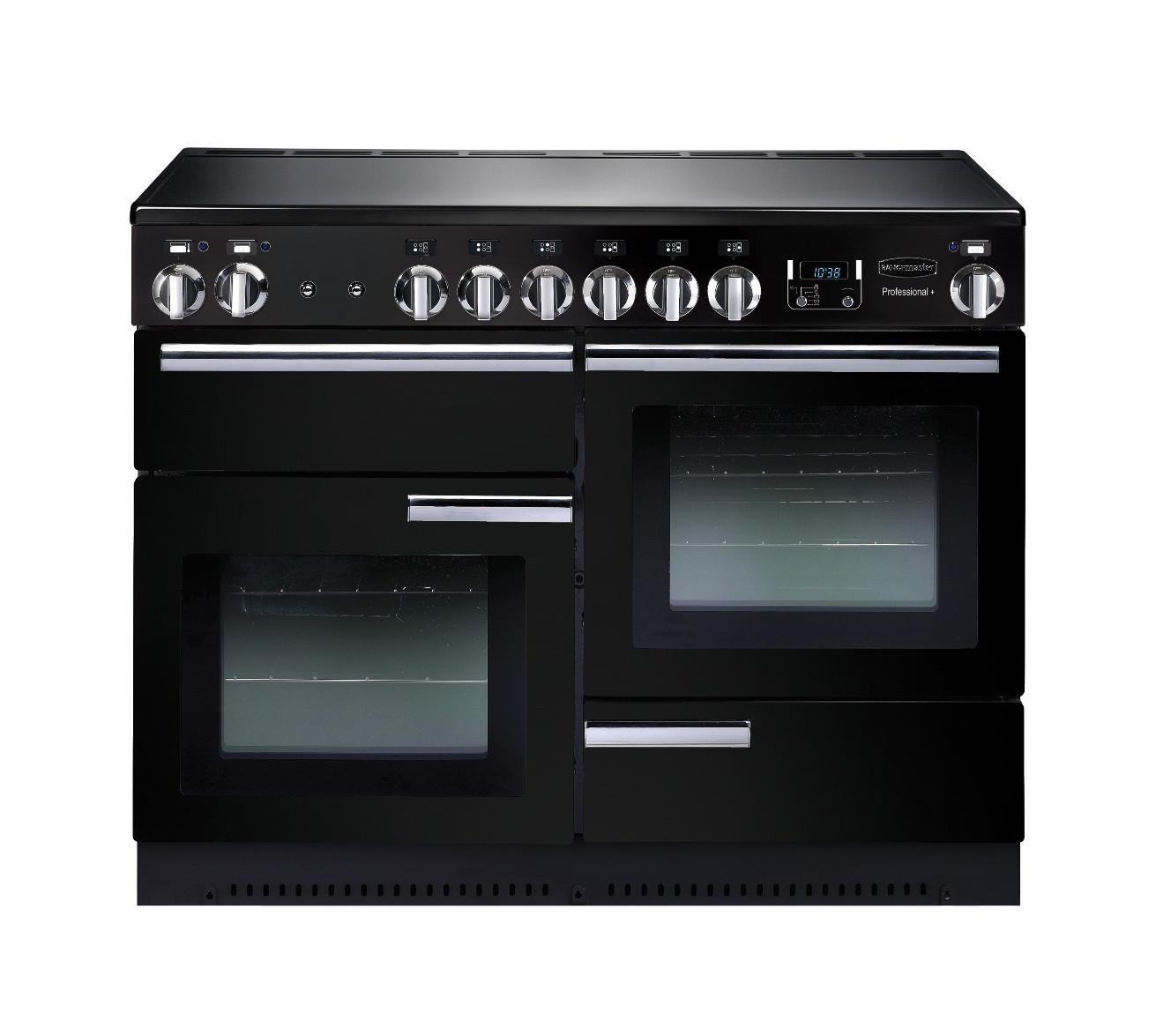Rangemaster Professional Plus 110 Ceramic Black Range Cooker PROP110ECGB/C 91880