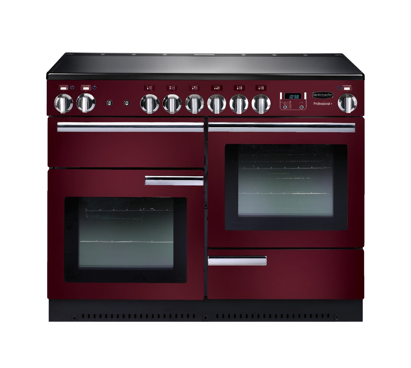Rangemaster Professional Plus 110 Induction Cranberry Range Cooker 91790