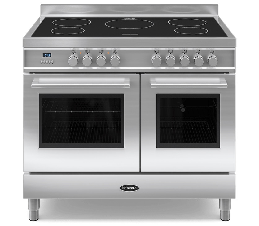 Britannia Q Line 100 Twin - 5 Induction Zones Stainless Steel Range Cooker