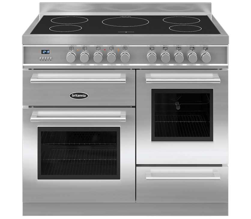 Britannia Q Line 100 XG - 5 Induction Zones Stainless Steel Range Cooker