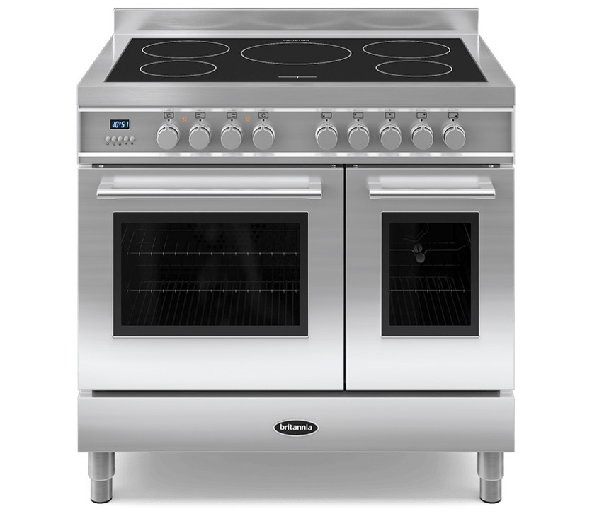 Britannia Q Line 90 Twin - 5 Induction Zones Stainless Steel Range Cooker