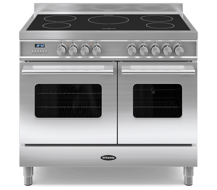 Britannia Delphi 100 Twin - 5 Induction Zones Stainless Steel Range Cooker