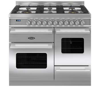 Britannia Delphi 100 XG - 6 Dual Fuel Burners Stainless Steel Range Cooker