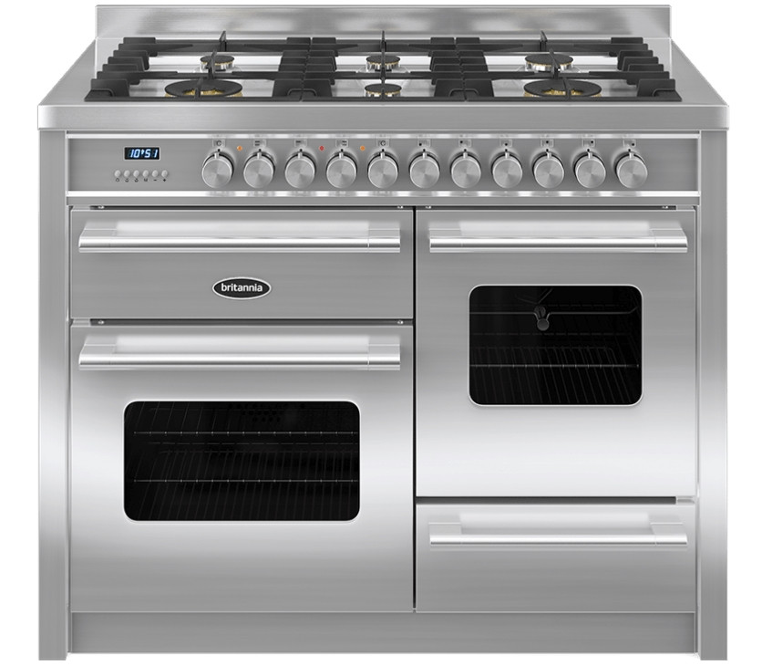 Britannia Delphi 110 XG - 6 Dual Fuel Burners Stainless Steel Range Cooker