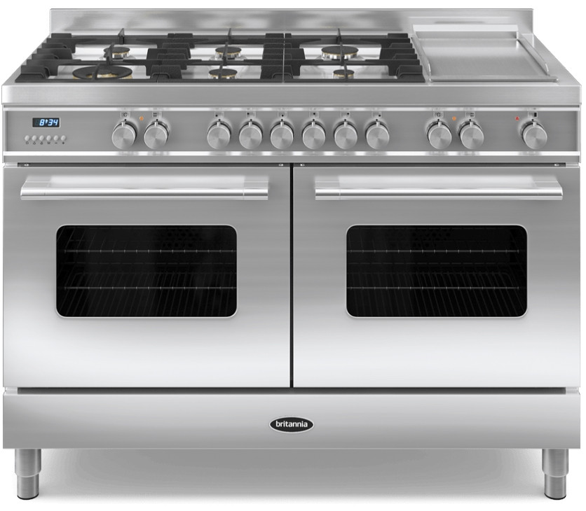Britannia Delphi 120 - 6 Dual Fuel Burners Stainless Steel Range Cooker