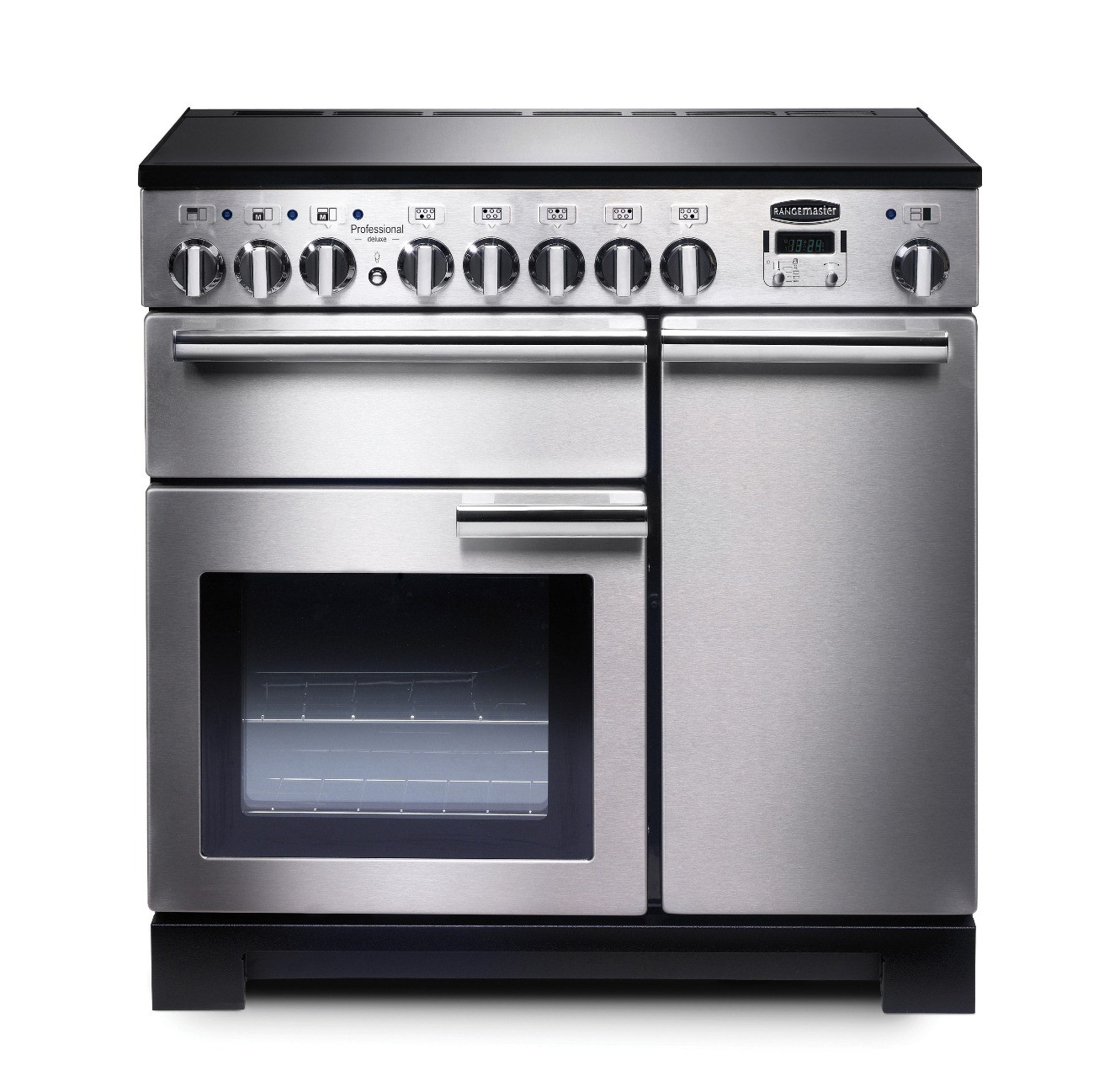 Rangemaster Professional Deluxe 90 Induction Stainless Steel Range Cooker PDL90EISS/C 97860