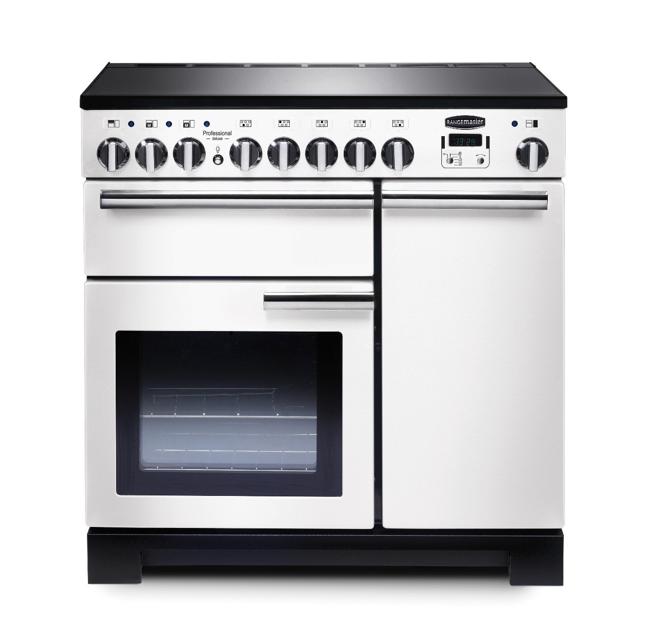 Rangemaster Professional Deluxe 90 Induction White Range Cooker 98740