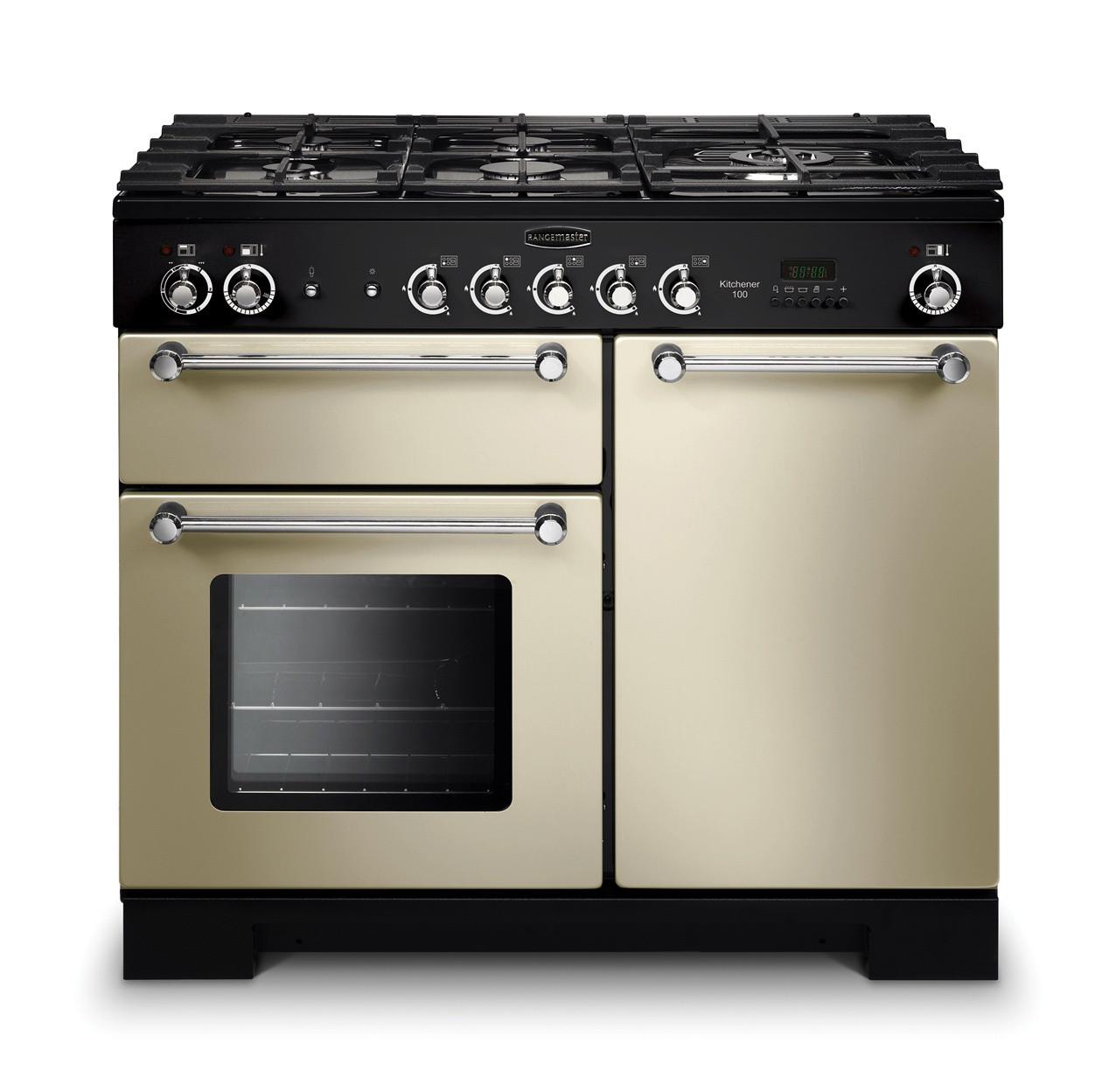 Rangemaster Kitchener 100 Dual Fuel Cream Range Cooker KCH100DFFCR/C 98800