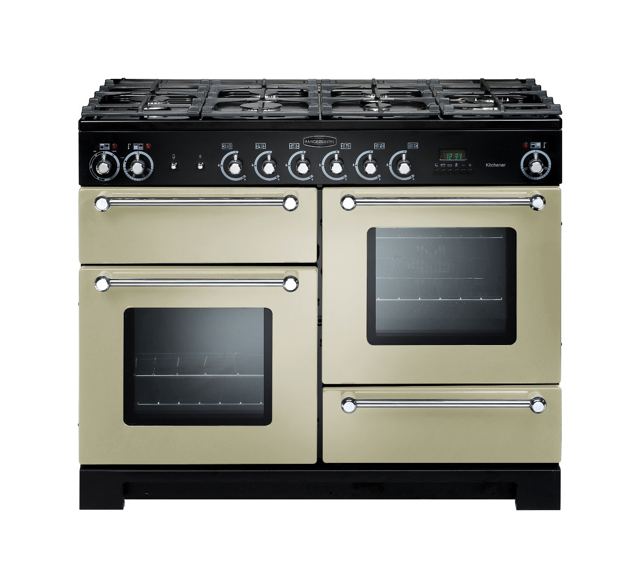 Rangemaster Kitchener 110 Dual Fuel Cream Range Cooker KCH110DFFCR/C 76770
