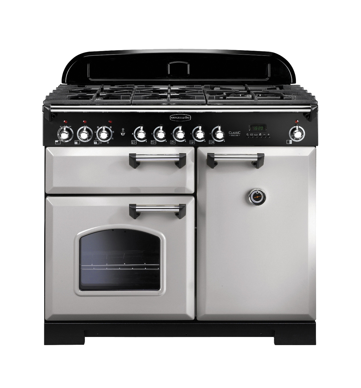Rangemaster Classic Deluxe 100 Dual Fuel Royal Pearl Brass