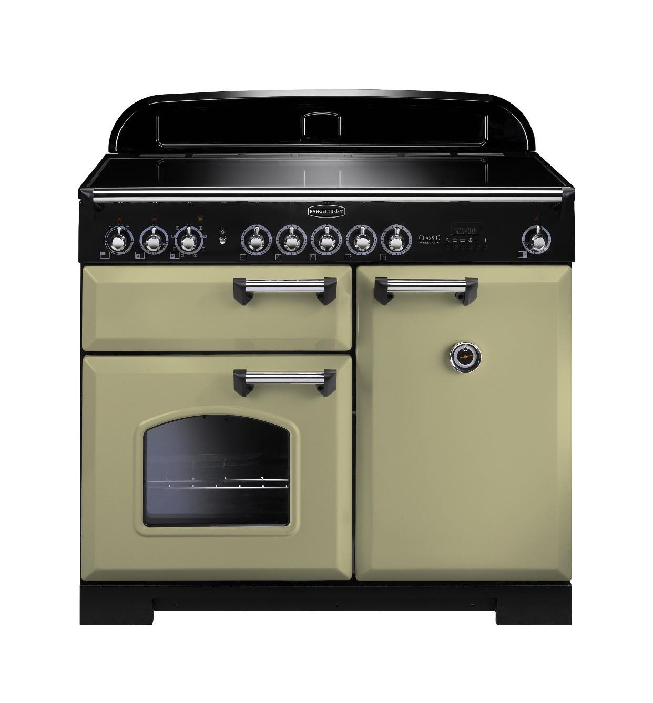 Rangemaster Classic Deluxe 100 Induction Olive Green Range Cooker 100920
