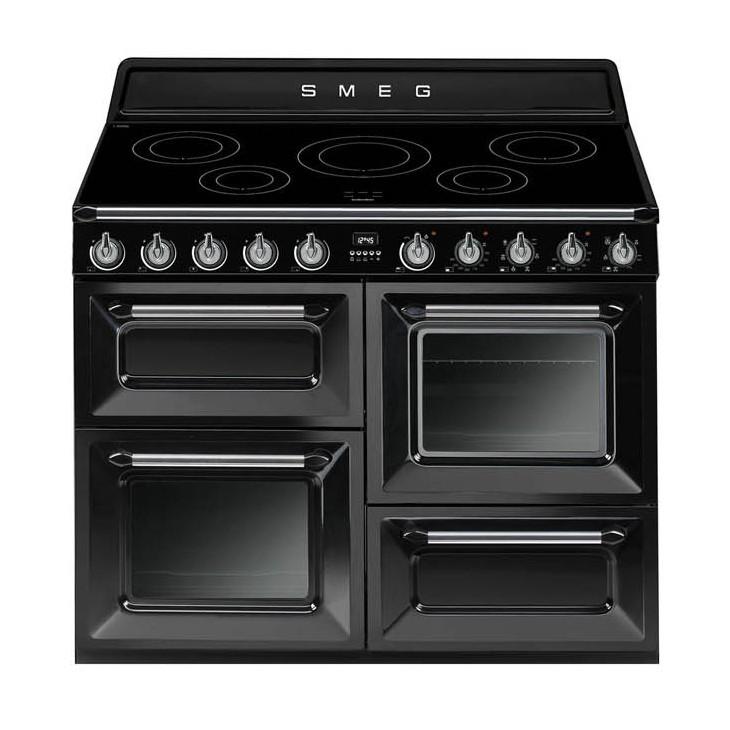 buy smeg victoria 110cm gloss black induction range cooker tr4110ibl. Black Bedroom Furniture Sets. Home Design Ideas