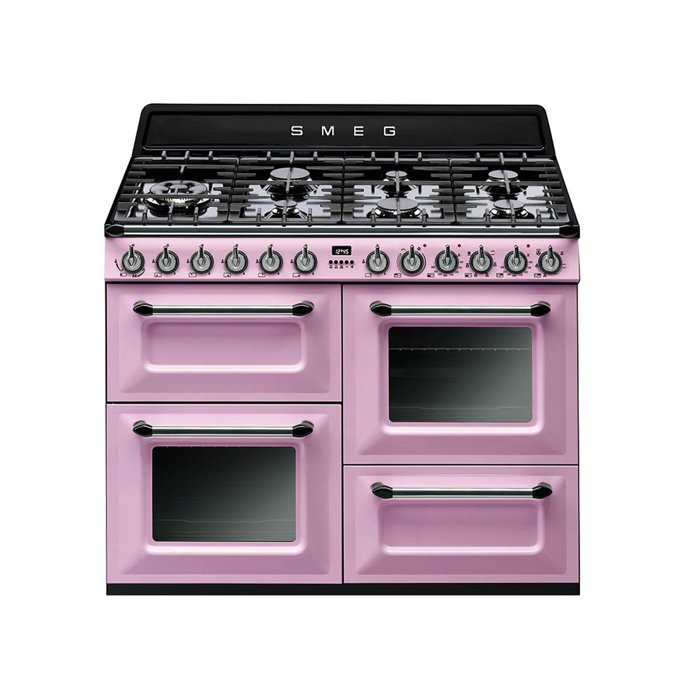 Smeg Victoria 110 Pink Dual Fuel Range Cooker
