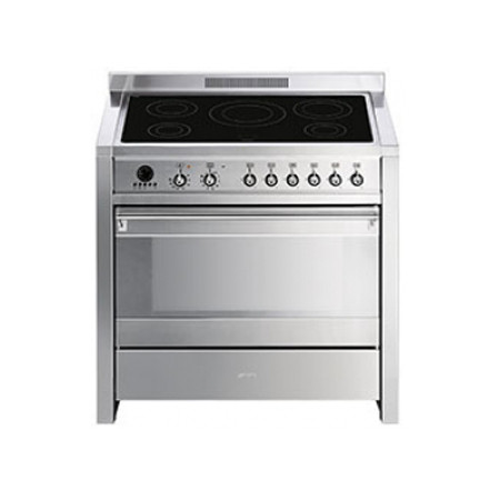 Smeg Opera 90 Induction Pyrolytic Stainless Steel Range Cooker