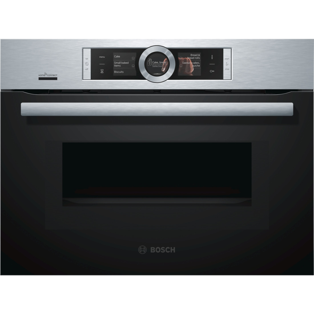 Bosch Serie 8 CMG676BS6B Pyrolytic Compact Oven with Microwave
