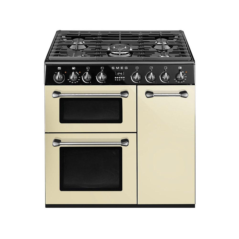 Smeg Burghley 90 Cream Dual Fuel Range Cooker