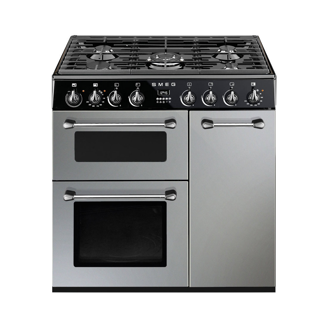 Smeg Burghley 90 Silver Dual Fuel Range Cooker