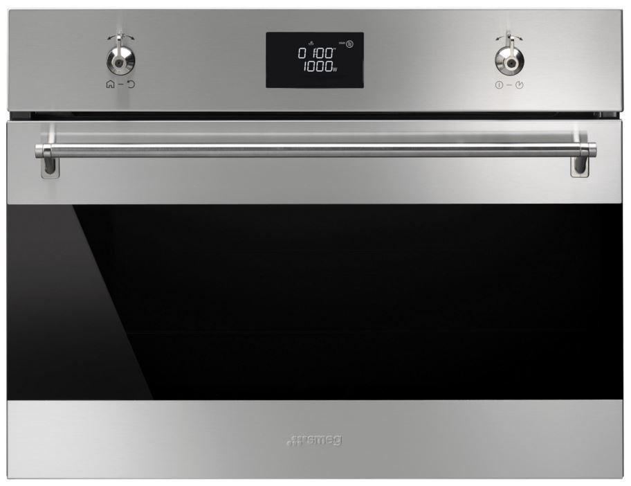 Smeg SF4390MCX Classic Stainless Steel Compact Combination Microwave Oven