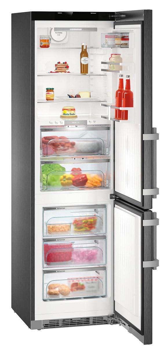 Liebherr CBNPbs 4858 Premium Fridge Freezer in Black Steel finish