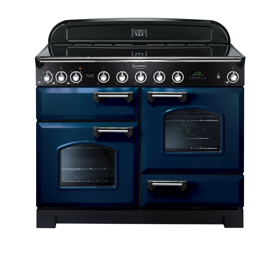 Rangemaster Classic Deluxe 110 Induction Range Cooker Regal Blue/Chrome CDL110EIRB/C 113090