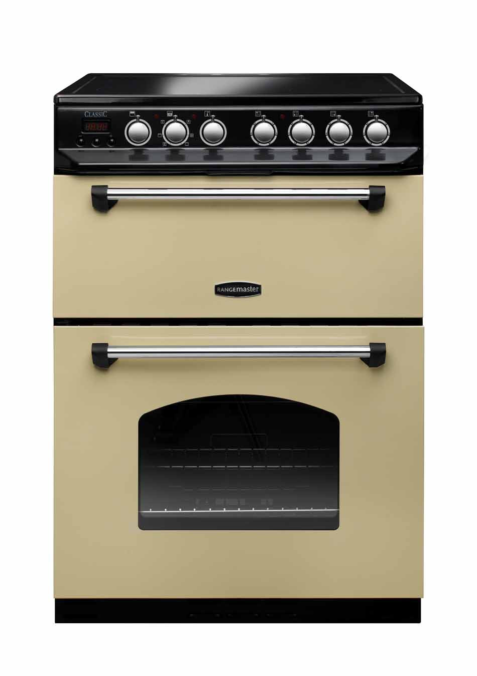 Rangemaster Classic 60 Ceramic Range Cooker Cream/Chrome Trim