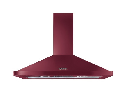 Rangemaster 100cm Chimney Cooker Hood Cranberry with Chrome Trim LEIHDC100CY/C 44650