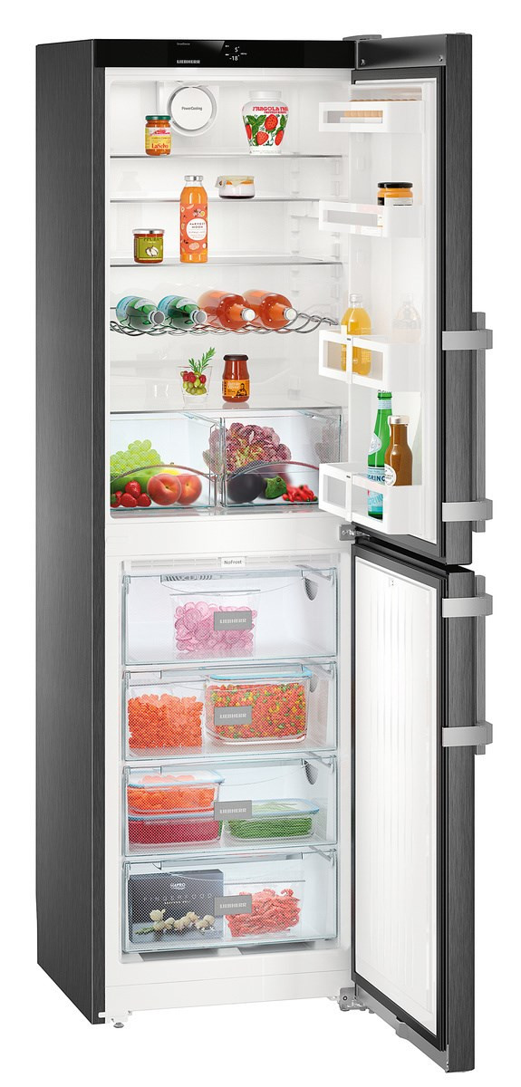 Liebherr CNbs 3915 Comfort Fridge Freezer in Black Steel Finish