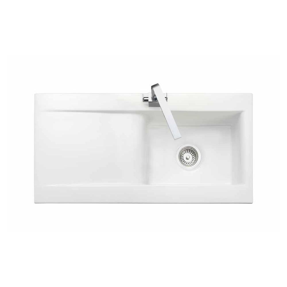 Rangemaster Nevada CNV1WH White Ceramic Sink