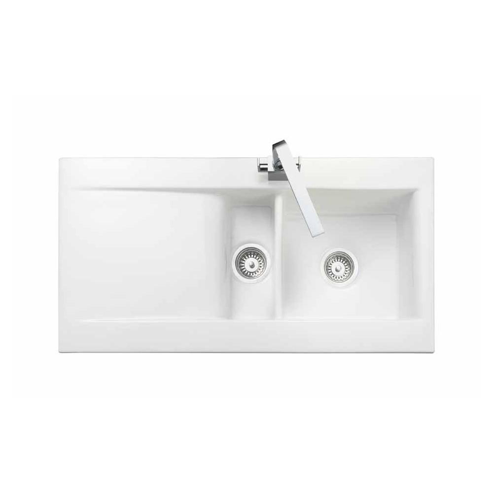 Rangemaster Nevada CNV2WH White Ceramic Sink