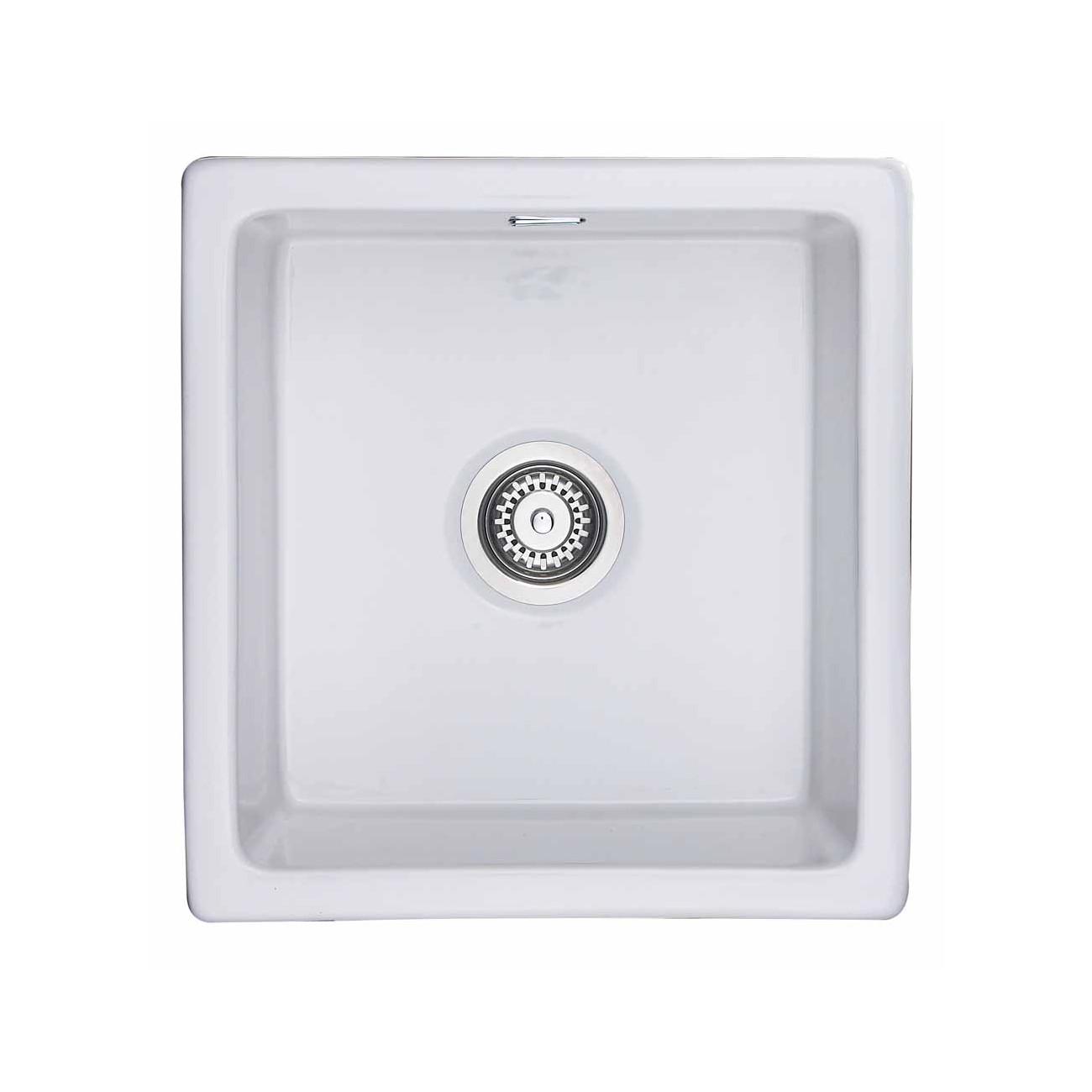 Rangemaster Rustique CRUB4648WH White Ceramic Sink
