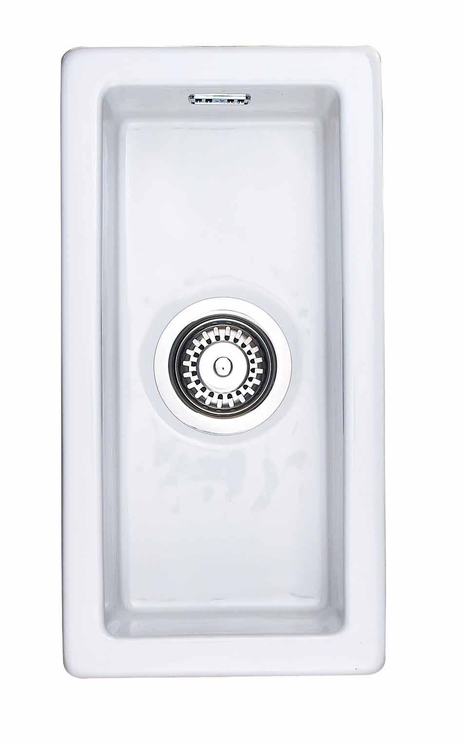 Rangemaster Rustique CRUB4825WH White Ceramic Sink