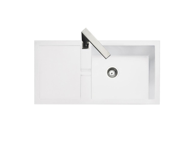 Rangemaster Cubix CX9851GW White Granite Sink