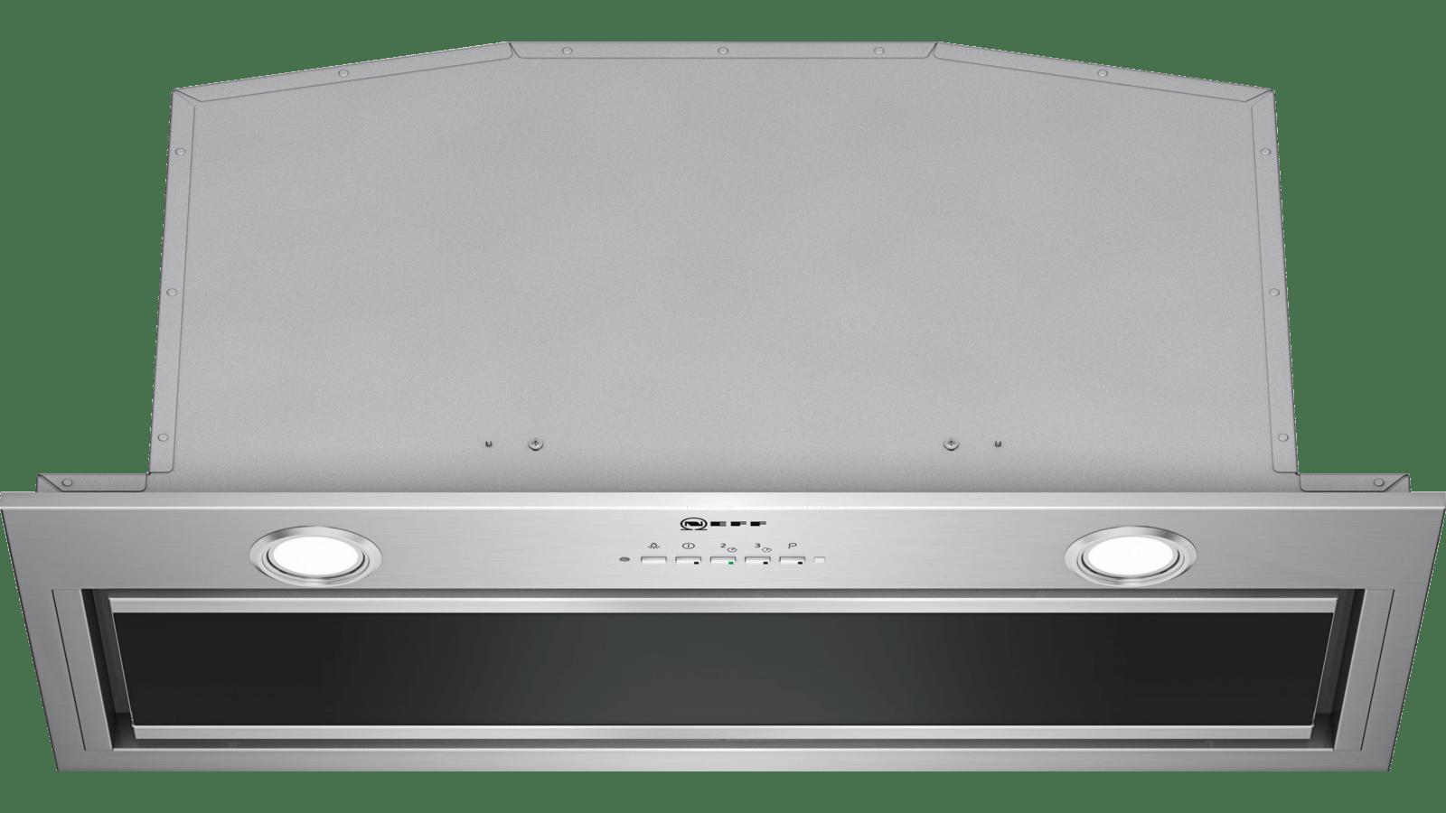 Neff N90 70cm Stainless Steel And Black Glass Canopy Hood D57ML67N1B
