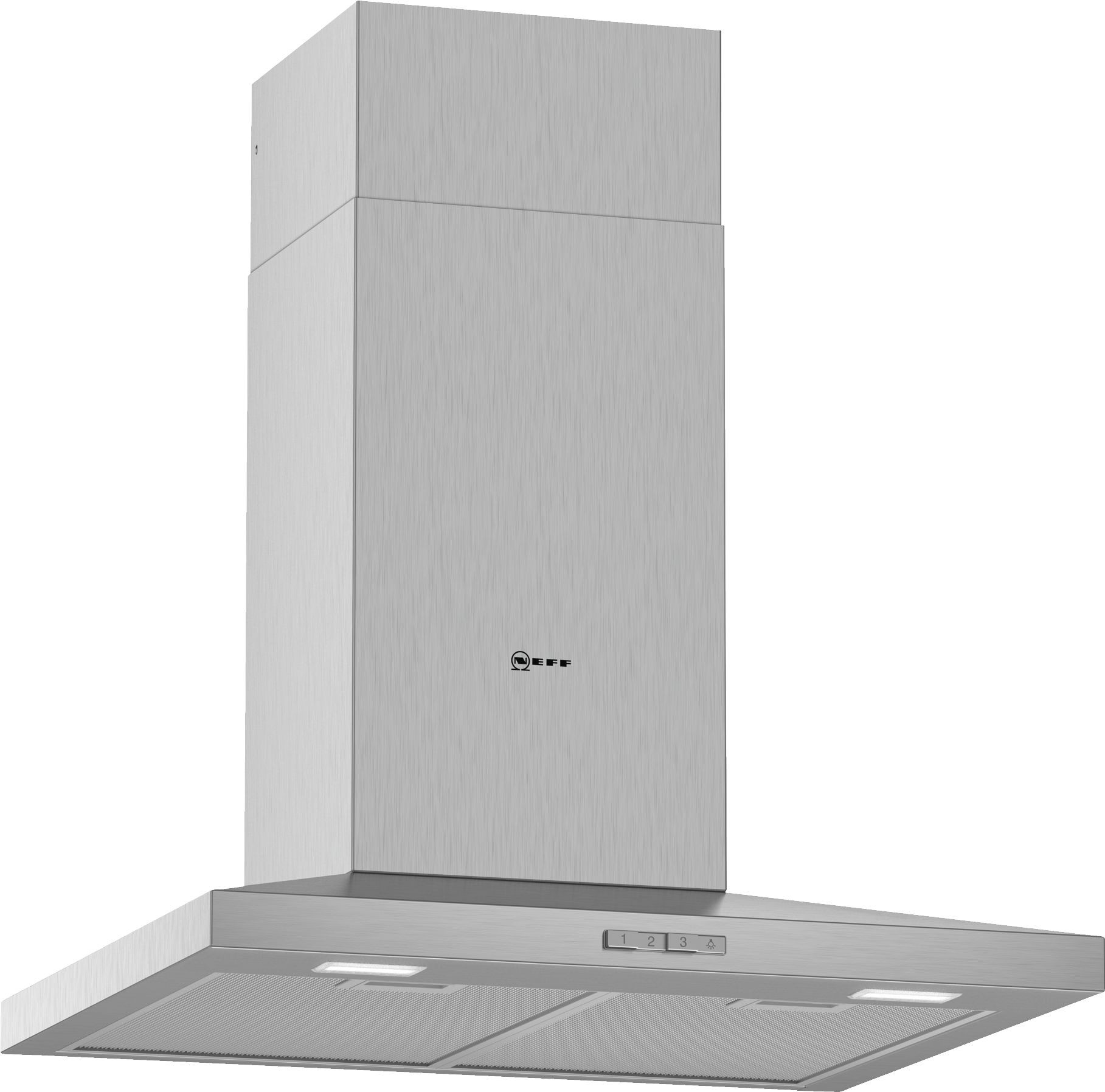 Neff N30 60cm Stainless Steel Slim Pyramid Chimney Hood D62QBC0N0B