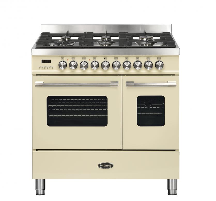 Britannia Delphi 90cm Dual Fuel Twin Oven Range Cooker Cream RC-9TG-DE-CR  544440316