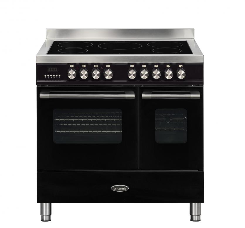 Britannia Delphi 90cm Induction Twin Oven Range Cooker Black RC-9TI-DE-K  544440062