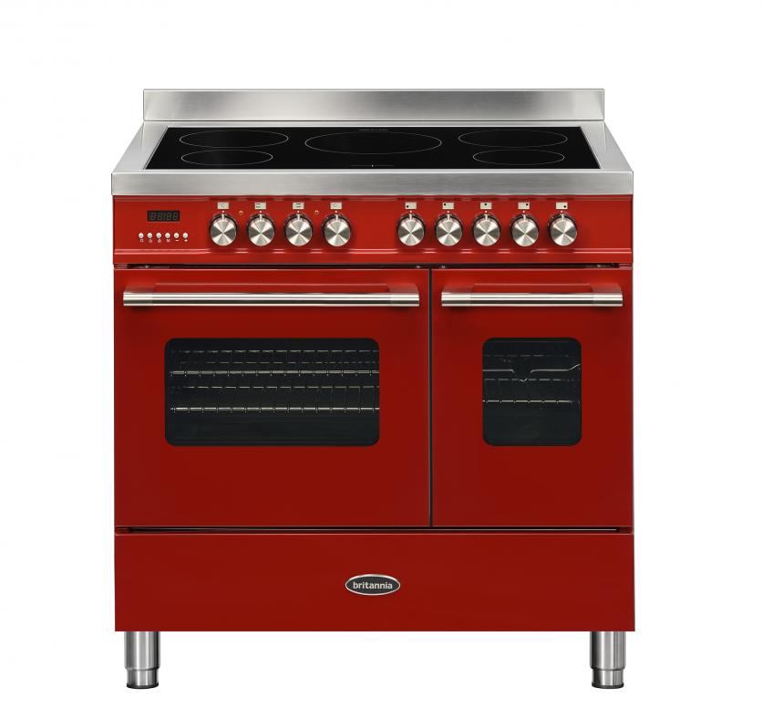 Britannia Delphi 90cm Induction Twin Oven Range Cooker Red RC-9TI-DE-RED  544440748