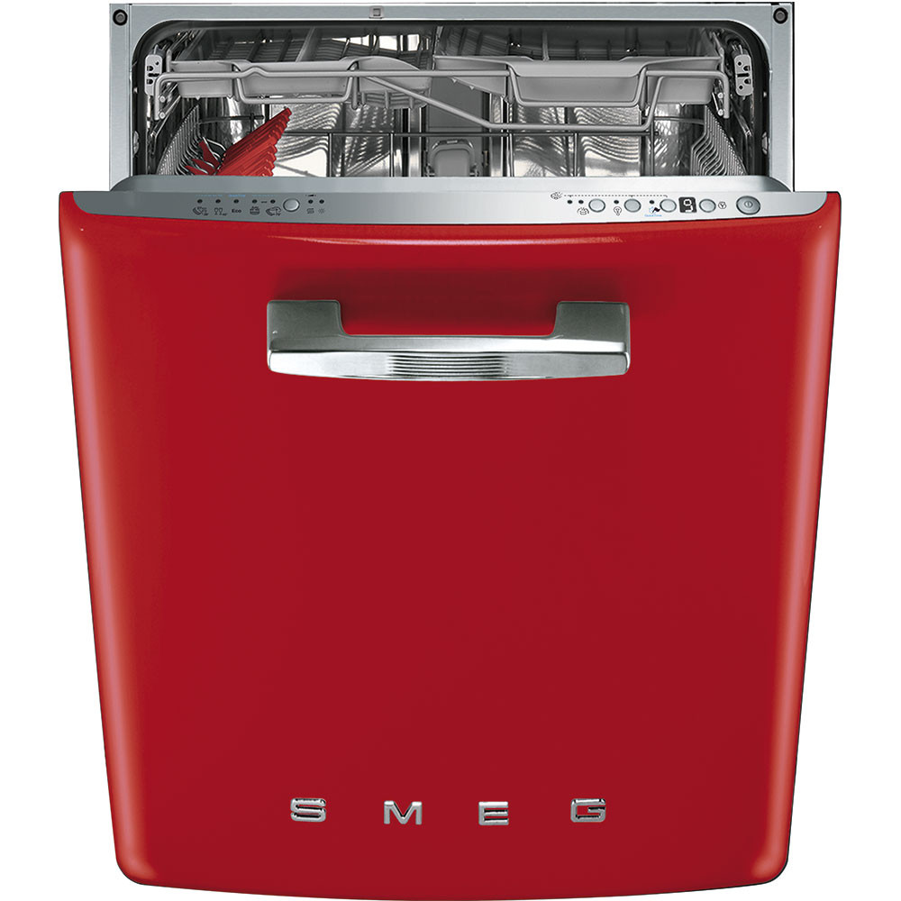 Smeg 60cm 50's Style Red Built-In Dishwasher DI6FABRD