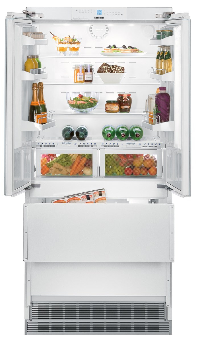 Liebherr ECBN6256 White Freestanding NoFrost Double Door Fridge Freezer